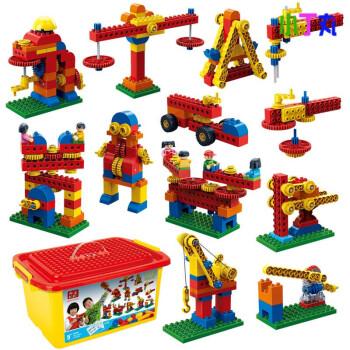 多色兼容乐高大积木早教拼装教具玩具积木机器人幼儿园齿轮颗粒玩具房屋积木图片