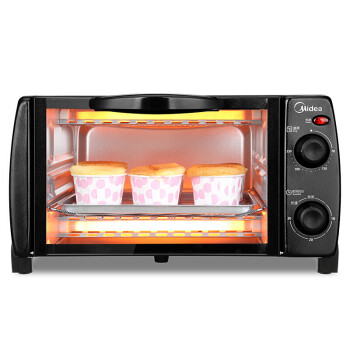 Midea electric oven home baking multi-function mini oven 10 liter home capacity double-baked bit temperature-controlled mini cake grilled meat