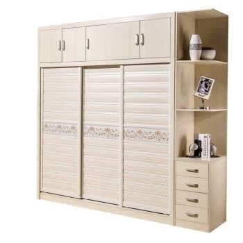 木质简易衣柜卧室衣柜移门木板简约推拉门衣橱组装滑门组合推拉门简约