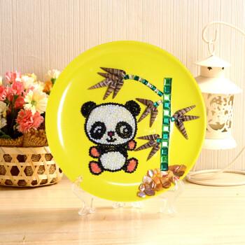 贝壳画 幼儿园手工diy制作材料包立体粘贴画创意 熊猫