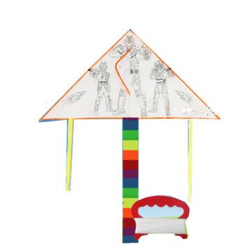 空白色风筝diy制作涂鸦填色儿童手工绘画涂色自制材料