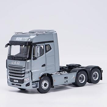 1:24 江淮 原厂格尔发k7牵引车 6*4拖头 卡车模型 收藏汽车模型 灰色