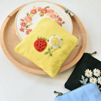 刺绣私密零钱包 手工diy布艺包包制作材料包 欧式刺绣