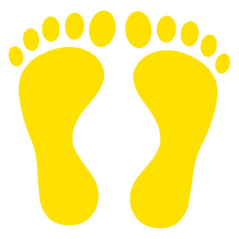 幼儿园学校商场工厂脚印地贴台阶贴地板房防水耐磨小脚丫贴纸 可爱
