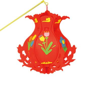 儿童手工制作灯笼diy喜庆eva宫灯幼儿园装饰花灯 手工