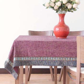 青眉中式现代餐厅餐桌布长方形桌垫布艺风格客厅茶几桌布创意台布