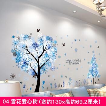 欧式客厅贴画墙贴装饰卧室温馨房间浪漫床头背景墙可移除墙面贴纸