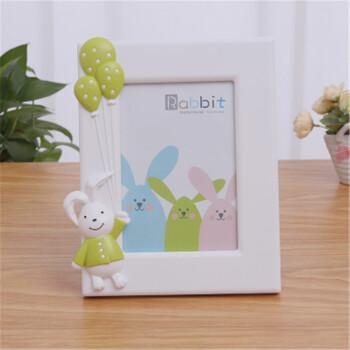 7寸创意卡通儿童相框5r宝宝幼儿园小孩婴儿可爱相架摆台制作 气球兔