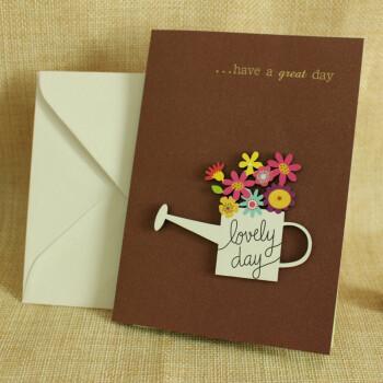 千度爱 创意立体文艺贺卡毕业季互赠信封立体折叠式木雕贺卡表白生日