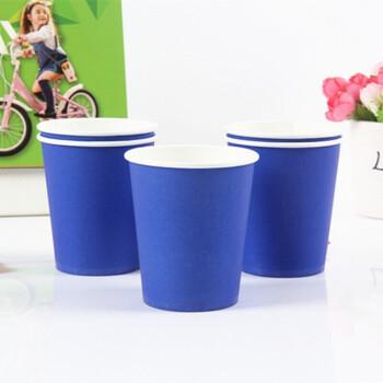 三锦 纸杯一次性彩色纸杯子加厚环保手工纸杯商务冷热