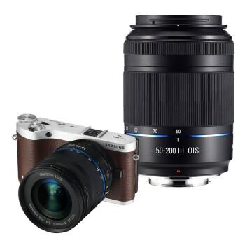 三星(SAMSUNG)NX300双镜头微单套机 棕色(18-50mm+50-200mm黑色双镜头全焦段)