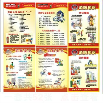 消防安全知识海报安全生产月宣传画防火标语消防四个能力挂图展板 40x