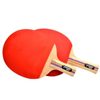 红双喜DHS E-EF2乒乓拍套装双面反胶直拍/横拍各一块健身组合型