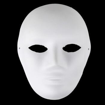 仕彩diy纯白面具白色纸浆面具 白坯脸谱面具 纸浆手绘面具女款 全脸