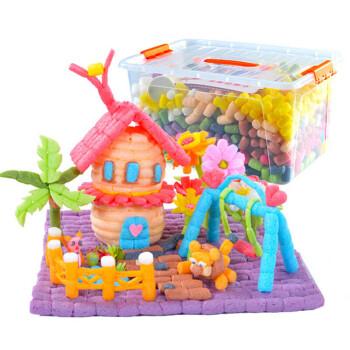 魔法积木玉米粒手工制作diy幼儿园玩具美工区创意材料