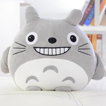 灰色龙猫龇牙款 手捂35cm可插手