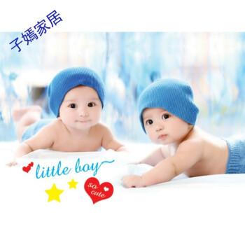 华洛芙 可爱宝宝墙画备孕早胎教娃娃挂画龙凤双胞胎海报可爱男女婴儿