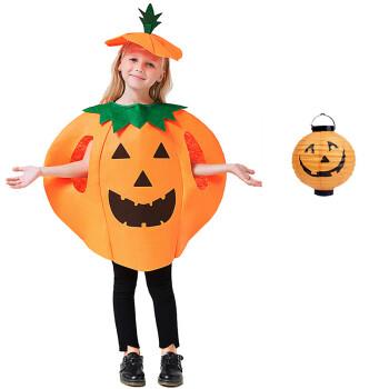 儿童服装南瓜衣服cosplay演出服女装套装化妆舞会 儿童南瓜衣 纸灯笼