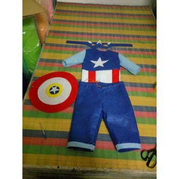 六一儿童节幼儿园亲子手工diy免裁剪环保表演服无纺布
