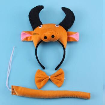 圣诞节幼儿园表演道具十二生肖发卡立体老虎猴子动物头饰头箍帽子