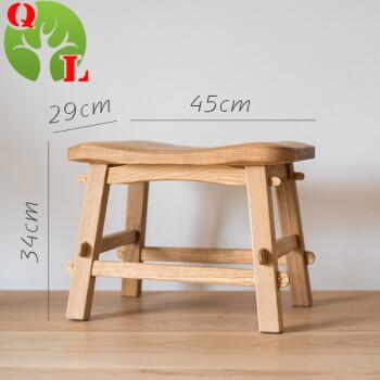 【掬涵】实木小凳子 北蜡原色无漆椅子板凳榫卯结构 传家品质 实木图片