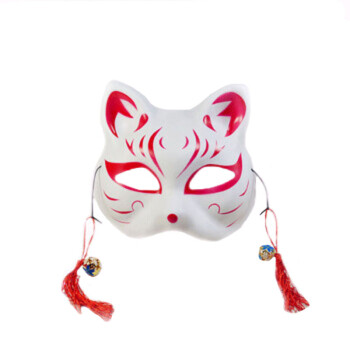 猫面具手绘 半脸猫面具和风狐狸 动漫男女猫脸cosplay