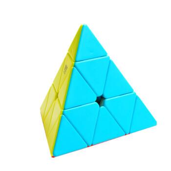 异型魔方套装圣手三阶金字塔三角形魔方比赛专用斜转sq1镜面魔方 奇艺图片