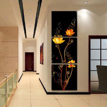 家装软饰 装饰字画 兰嘉丝汀 现代无框画客厅装饰画玄关壁画走廊竖式图片