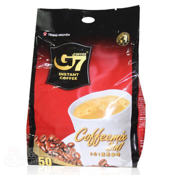 越南中原g7咖啡_trung nguyen/越南进口 中原g7三合一速溶咖啡 800g 50杯 50*16g