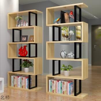 客厅隔断置物架双面屏风多层花架现代简约书架书柜创意收纳展示架 五
