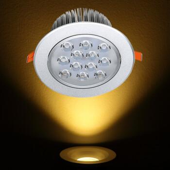 仟朵射灯led天花灯嵌入式3W5W7W12W18W瓦客厅服装店背景墙珠宝开孔7.5公分牛眼灯筒灯 12W(开孔110-1