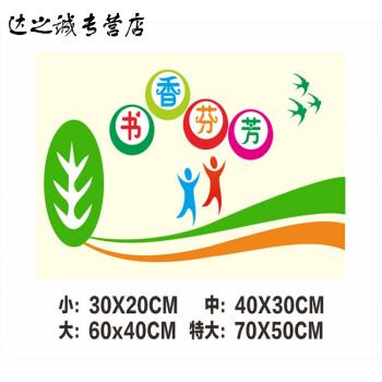 小学校教室布置装饰贴纸 卫生图书角标语 班级文化用品贴画 j60 小