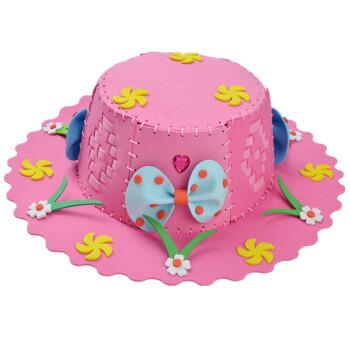 新款编织帽子幼儿园手工制作材料包 子diy制作手工 粉色