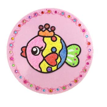 儿童diy手工制作画雪花泥画珍珠泥材料包粘土 皇冠鱼