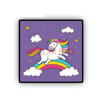 数字油彩画diy儿童油画卡通动漫动物填色手绘手工画装饰画 独角兽13