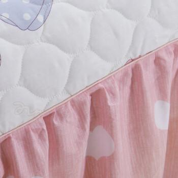 馨窝 床裙单件 加厚夹棉床裙单品 全棉床笠式床裙纯棉床罩床笠 床垫保护套床盖 可配四件套 淑女日记 (单件)1.5*2米