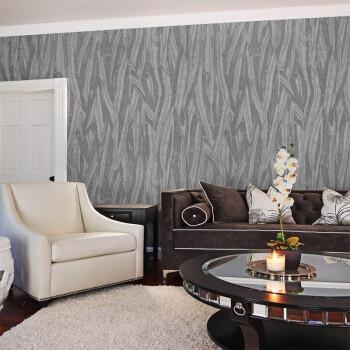 高档电视墙壁纸立体 卧室客厅背景墙壁纸 3d墙纸 蔻姿 SY1701浅灰色