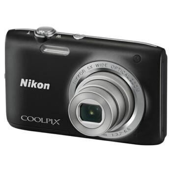 尼康(NIKON) Coolpix S2800 便携数码相机 黑色(2005万像素 2.7英寸屏 5倍光学变焦 26mm广角)