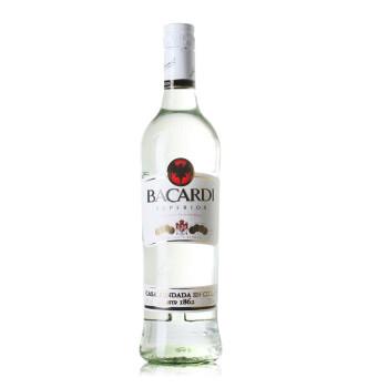 洋酒Bacardi superior百加得超级朗姆酒银白750ml