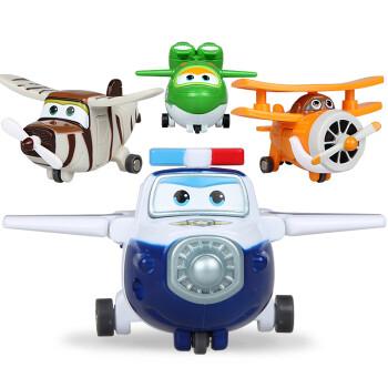 奥迪双钻超级飞侠机器人益智儿童玩具滑行小飞机迷你