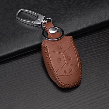 智汇 领克01钥匙包 改装专用汽车遥控真皮保护套钥匙壳吉利领克01钥匙