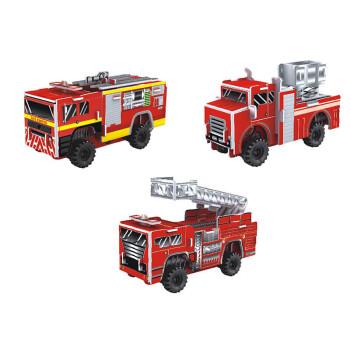 拼图滑行模 手工制作纸质汽车玩具玩具 1913h消防车