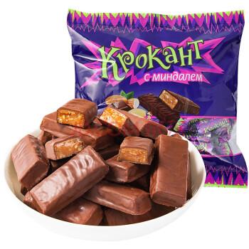 kdv俄罗斯进口紫皮糖巧克力糖扁桃仁糖士力架牛轧糖婚庆喜糖花生酥图片