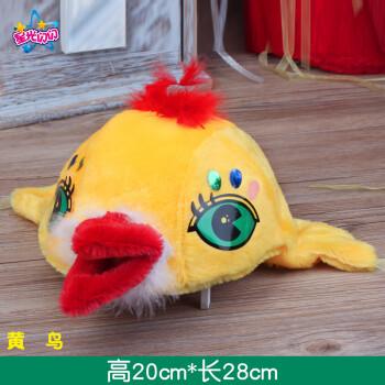 儿童动物帽子毛绒小动物头饰幼儿园表演老虎兔子青蛙狗小鸡动物帽 浅