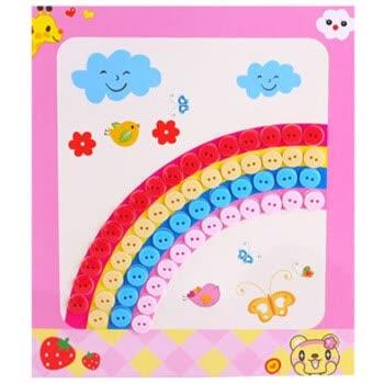 纽扣画 扣子画diy手工材料包制作幼儿园粘贴画彩色圆形 扣子儿童贴画
