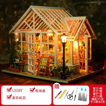 diy小屋别墅手工创意制作 拼装模型玩具公主房子生日礼物 索萨花店