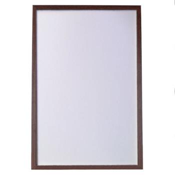 御杰mdf边框单面磁性黑板彩色边框广告板可挂式可支架展示板核桃木色