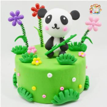 彩泥超轻粘土儿童手工制作diy材料包工具黏土橡皮泥套装 绿竹熊猫