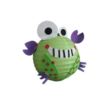 卡通纸灯笼节日儿童手工灯笼可爱小动物贴纸 小螃蟹
