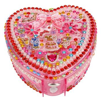 启贝工坊儿童diy手工制作玩具创意礼物女孩首饰盒 梦幻化妆包